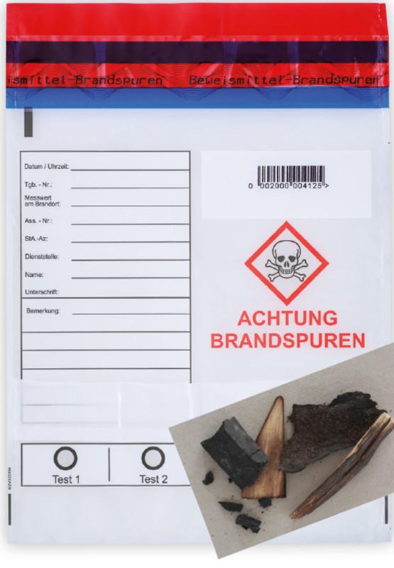 Spurensicherungsbeutel für Brandproben
