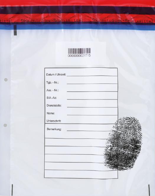 Spurensicherungsbeutel für Fingerabdrücke