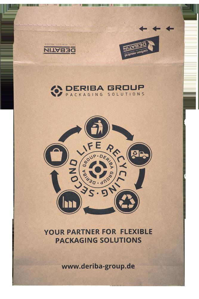 Papierversandtasche Recyclingkreislauf
