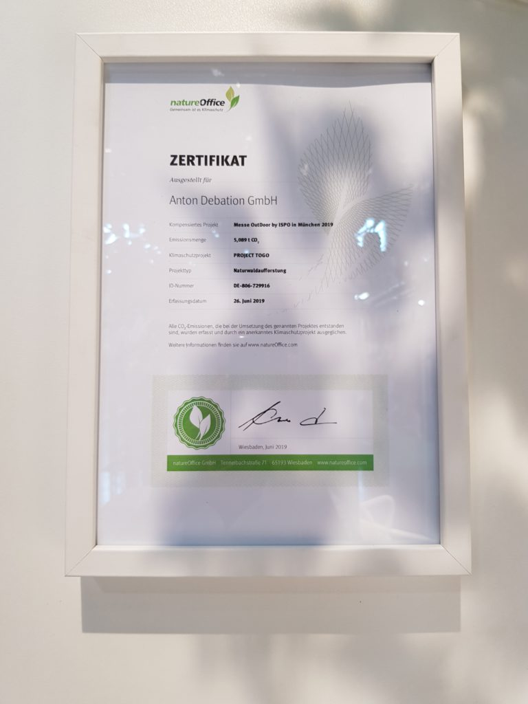 Zertifikat Klimaneutral Fachpack 2019