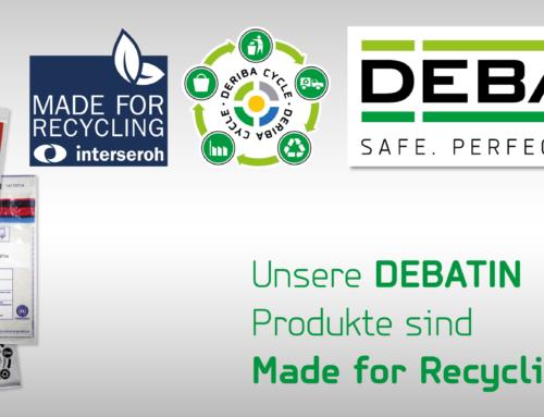 Made for Recycling – DEBATIN Produkte erhalten Zertifikate über ausgezeichnete Recyclingfähigkeit
