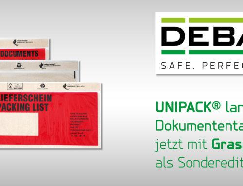 DEBATIN Nachhaltigkeits-Offensive: UNIPACK® lang DIN Dokumententaschen jetzt mit Graspapieranteil als Sonderedition