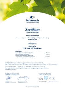 Zertifikat MFR