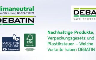 Nachhaltige Produkte von DEBATIN