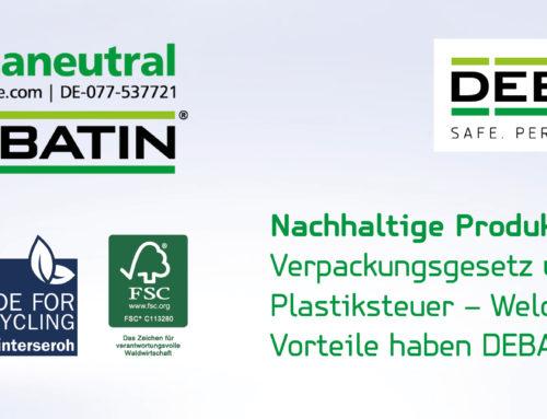 Nachhaltige Produkte von DEBATIN: Geprüft, zertifiziert und recyclingfähig