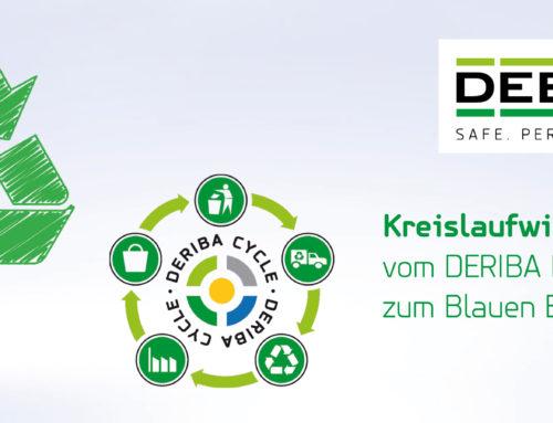 Mit dem DERIBA Recycling-Kit Folien sammeln und Teil unseres eigenen Recyclingkreislaufs DERIBA CYCLE® werden!
