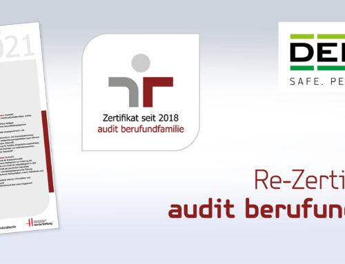 Zweite Zertifikatsverleihung audit berufundfamilie: DEBATIN durchläuft Verfahren erfolgreich und erhält Re-Zertifizierung